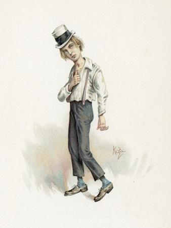 David Copperfield, Illustration from 'Character Sketches from Charles Dickens', C.1890