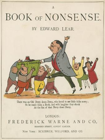 Front Cover of 'A Book of Nonsense', Published by Frederick Warne and Co., London, C.1875