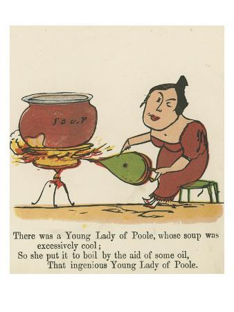 There Was a Young Lady of Poole, Whose Soup Was Excessively Cool