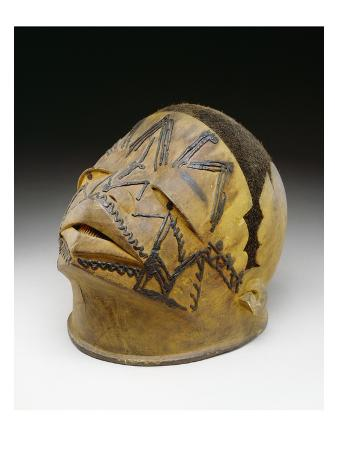 Helmet, Makonde, 19th-20th Century (Wood, Wax and Fibre)