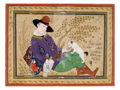 Young Portuguese, Persian, 1634 (W/C, Gold and Ink on Paper)