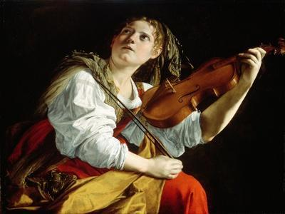 Young Woman with a Violin, c.1612