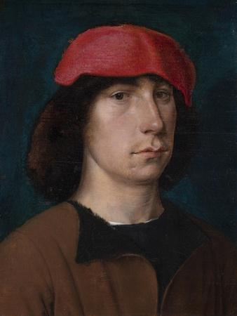A Young Man in a Red Cap, C.1512 (Oil on Oak Panel)