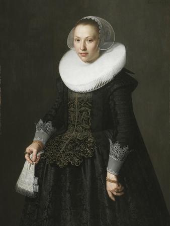 Portrait of a Lady, C.1630 (Oil on Oak Panel)
