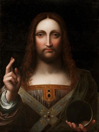 Cristo Salvator Mundi (Oil on Wood Panel)
