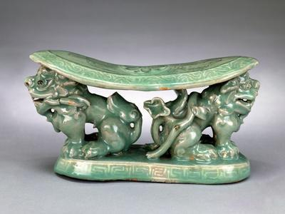 Pillow, Late 12th Century (Celadon with Inlaid Slip Decoration)