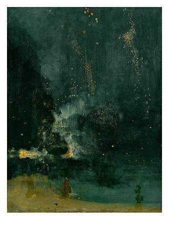 The Falling Rocket, 1875 (Oil on Panel)