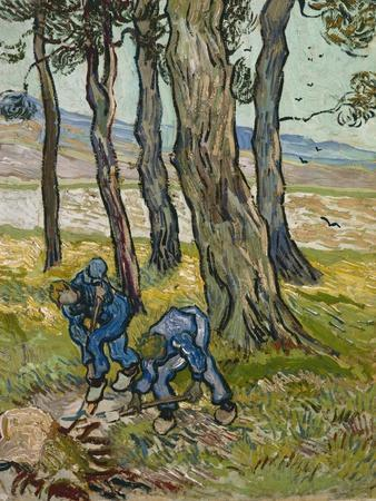 The Diggers, 1889 (Oil on Paper Lined onto Canvas)