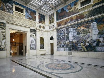 The Rivera Court with the Detroit Industry Fresco Cycle by Diego Rivera (1886-1957) 1932-33 (Photo)
