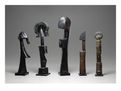 Five Mossi Dolls, Burkina Faso, 19th-20th Century (Wood)