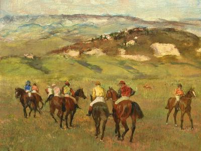 Jockeys on Horseback before Distant Hills, 1884