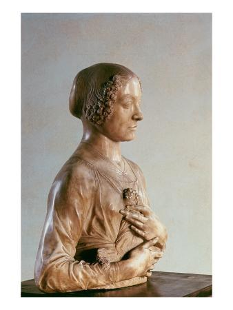 Woman with a Bouquet, C.1475-80 (Marble)
