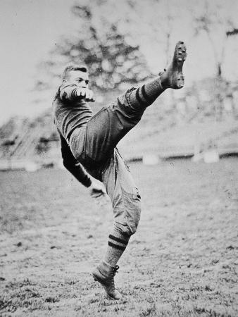 Dwight D. Eisenhower as a Cadet Footballer at West Point Academy, New York, 1912 (B/W Photo)