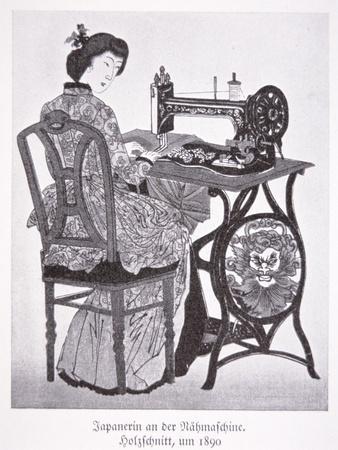 Japanese Sewing Machine, 1890 (Litho)