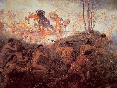 The Death of General Braddock Near Fort Duquesne