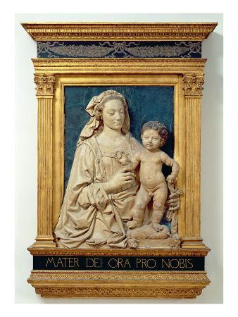 Madonna and Child, C.1470 (Glazed Terracotta) (Also See 428020)