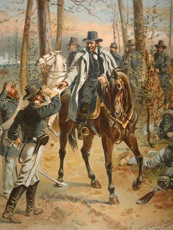General Grant in the Wilderness Campaign, 5th May 1864 (Colour Litho)