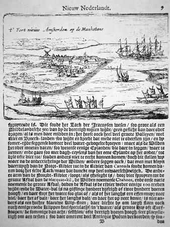 New Amsterdam in 1655, the Oldest known View of Fort Nieuw Amsterdam