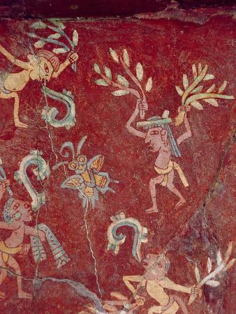 Fresco from the Palace of Tepantitla (Fresco) 407318 Little Figures