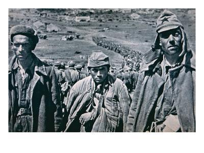 Russian Pows Captured by the Germans, 1941 (B/W Photo)