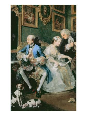 Marriage a La Mode: I - the Marriage Settlement, c.1743 (Detail)