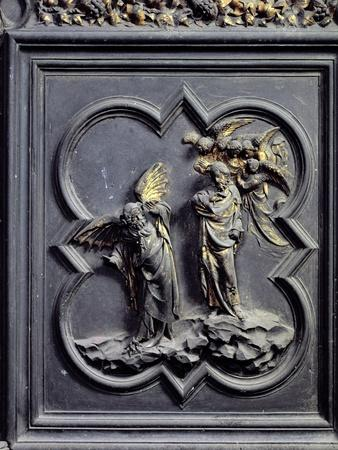 The Temptation of Christ, Sixth Panel of the North Doors of the Baptistery of San Giovanni, 1403-24