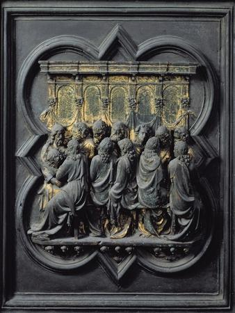 The Last Supper, Twelfth Panel of the North Doors of the Baptistery of San Giovanni, 1203-24