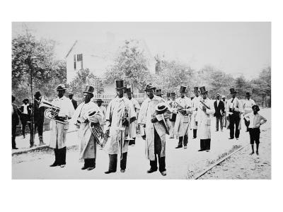 Negro Marching Band, New Orleans, 1910 (B/W Photo)