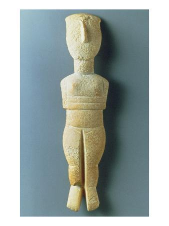 Female Figurine, Early Cycladic, C.2800-2300 BC (Marble)