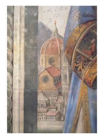 The Duomo, Detail from the Fresco in the Sala Dei Gigli, C1470 (Fresco)