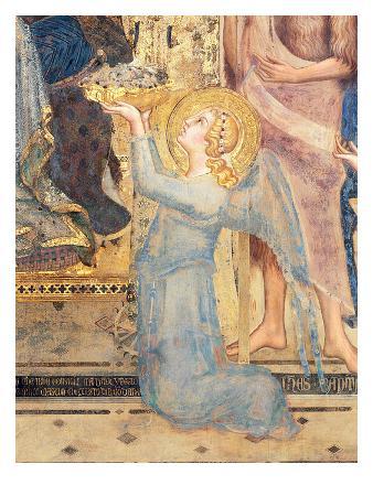 Maesta: Angel Offering Flowers to the Virgin, 1315 (Fresco) (Detail of 51591)