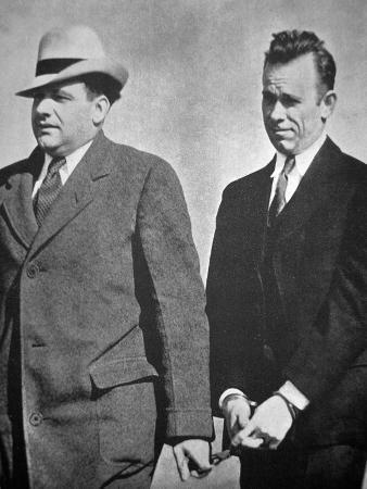 John Dillinger under Arrest in January 1934 (B/W Photo)