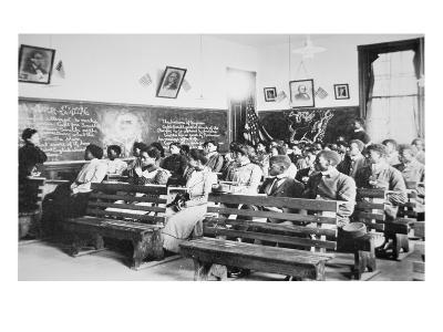 History Class at the Negro Industrial Institute at Tuskegee, Alabama, 1902 (B/W Photo)