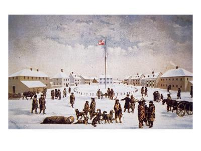 View of Fort Garry (Colour Litho)