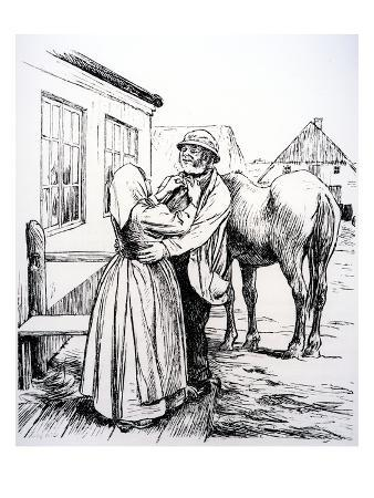 Illustration from 'What the Old Man Does Is Always Right' by Hans Christian Andersen (Engraving)