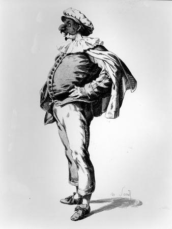 Polichinelle, Depicted in the Stage Costume of 1685, 1860 (Litho)