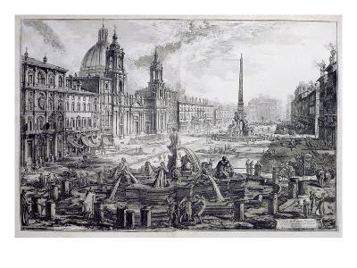 The Piazza Navona, from 'Le Antichita Romane De G.B. Piranesi (1756)', Published Paris 1835