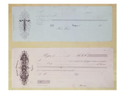 Requests to Pay, Issued in Troyes in the 1840's (Engraving)
