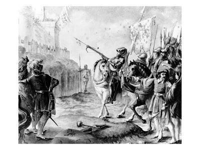 Joan of Arc Orders the English to Leave France, 1789 (Engraving)