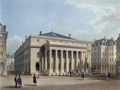 The Theatre De L'Odeon, C.1830-40 (Colour Litho)