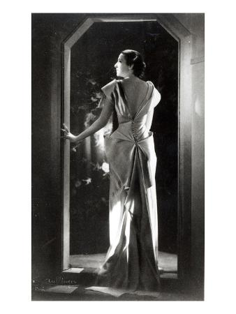 Dress Designed by Madeleine Vionnet (1876-1975) (B/W Photo)
