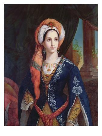 Portrait of the Actress Mlle Rachel in the Role of Roxanne for the Play, Bajazet by Jean Racine