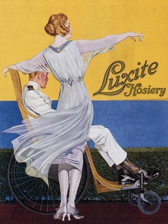 Advertisement for 'Luxite Hosiery', from 'Vogue' Magazine, 1919 (Colour Litho)