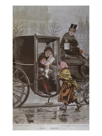 Please Choose', Illustration from 'Le Monde Illustre', C.1890 (Colour Litho)
