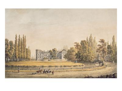 Entrance to the Park and Chateau at Ermenonville, Early 19th Century (Gouache on Paper)