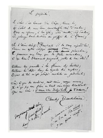 Le Possede' Autograph Poem (Pen and Ink on Paper)
