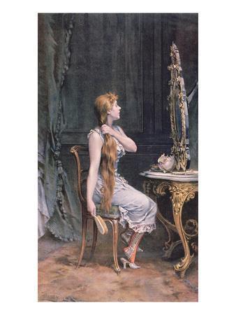 Golden Hair, 1894 (Colour Litho)