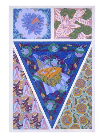 Plate 3, from 'Forms and Colours', C.1930 (Colour Litho)