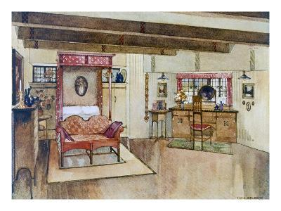 A Bedroom in the Arts and Crafts Style (Colour Litho)