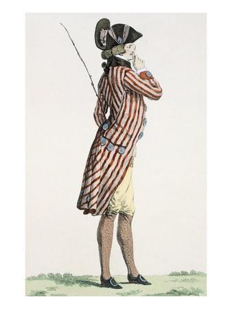 Le Lorgneur, Engraved by Baquoi, Plate No.283 from 'Galeries Des Modes Et Costumes Francais'